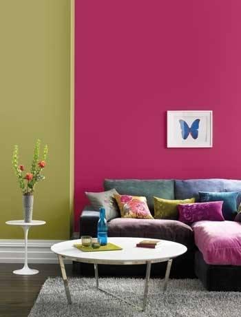 Ideas para pintar las paredes de colores vivos for Como combinar colores para pintar