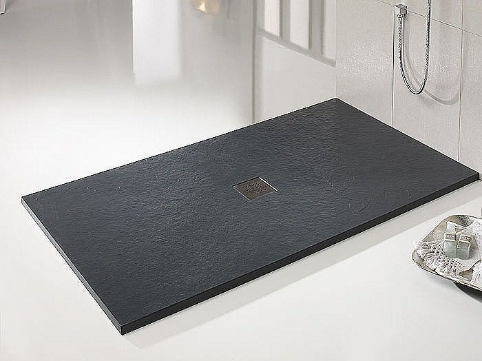 Platos de ducha de pizarra ventajas blogdecoraciones - Modelos de mamparas de ducha ...