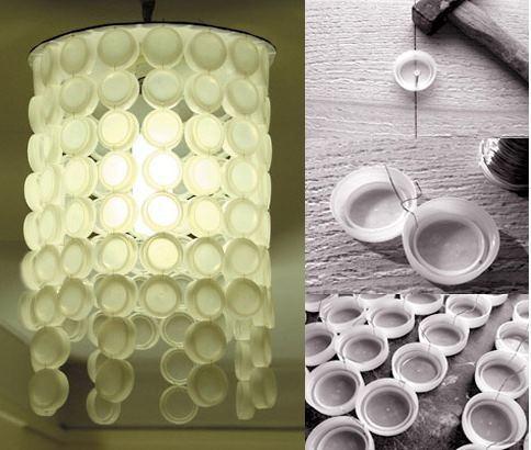 L mparas recicladas blogdecoraciones - Lamparas originales recicladas ...