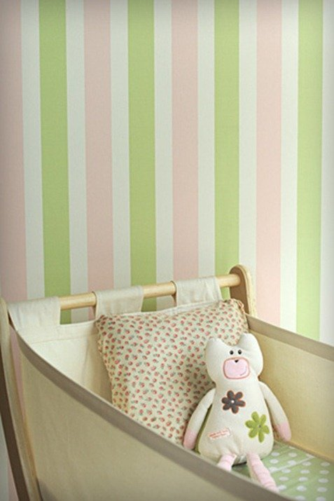 Papel pintado a rayas blogdecoraciones - Papel a rayas para paredes ...