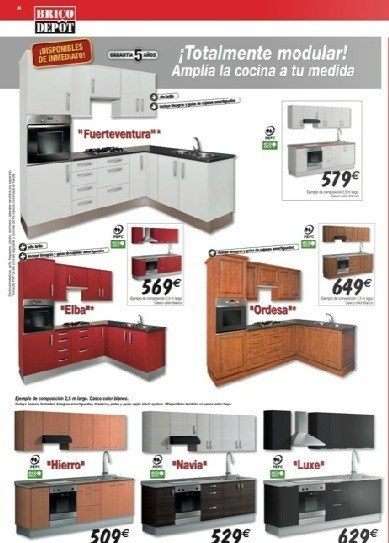 Cocinas brico depot blogdecoraciones for Modulos para cocina baratos