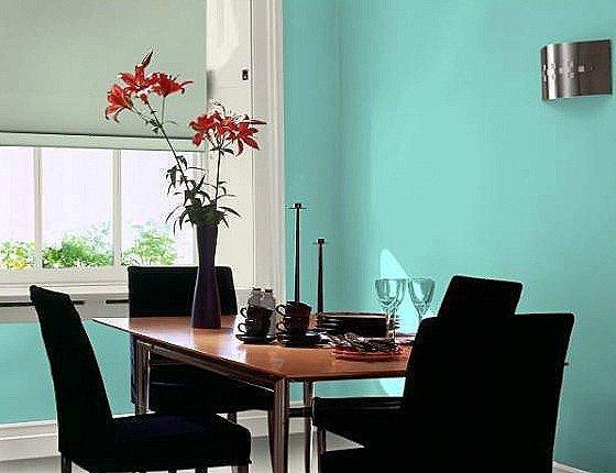 Muebles en negro color de las paredes blogdecoraciones for Paredes turquesa y gris