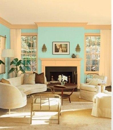 Decorar un salón en azul
