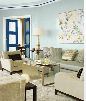 Decorar El Salon En Azul also Khaki Wall Color furthermore Furniture in addition Modernes Wohnen besides Decoracion De Habitaciones En Rosa Y Gris. on modern design curtains for living room