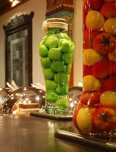 decorar con hortalizas