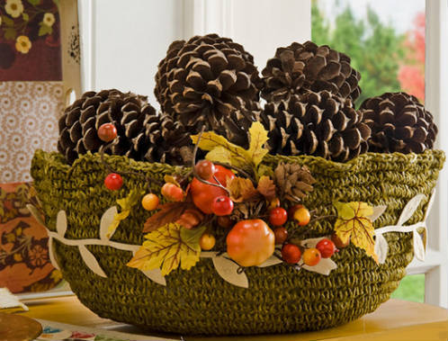 5 ideas baratas decoraci n de navidad blogdecoraciones - Centros de mesa con pinas secas ...