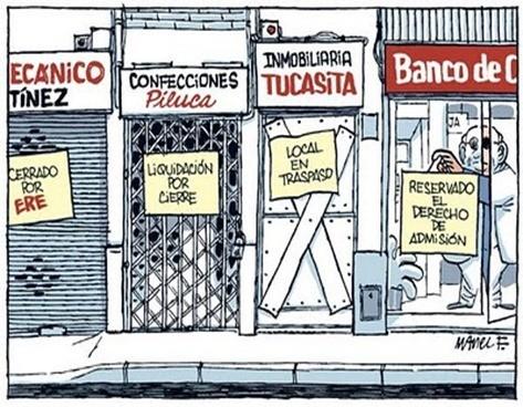 Cerrado por la crisis