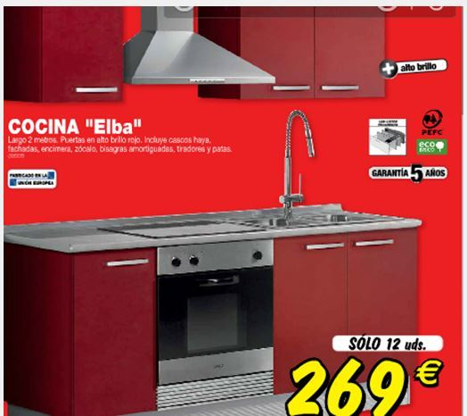 Hoza acogedora personales muebles de cocina en kit brico for Muebles de cocina en kit baratos
