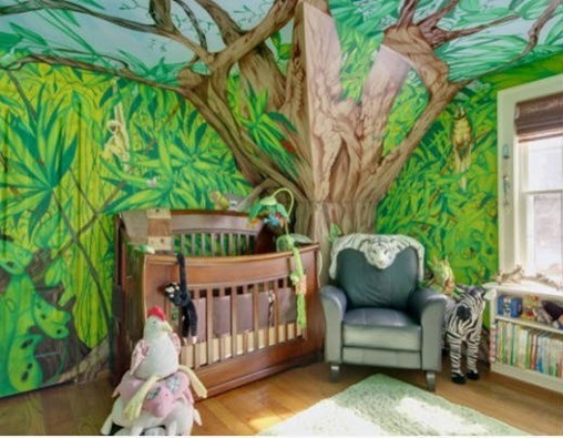 Decorar dormitorio bebé arbol