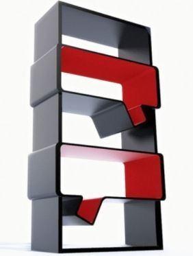 Estanterias-rojo-negro