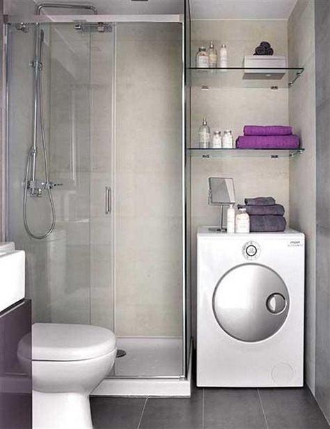 Lavadora En Un Baño Pequeno Es Posible:Baños pequeños como ganar espacio – BlogDecoraciones