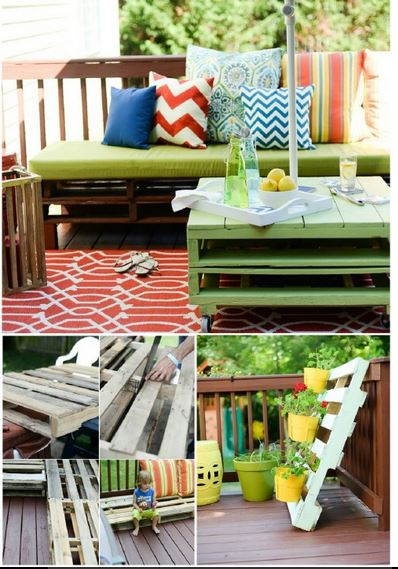 Ideas originales con objetos reciclados blogdecoraciones for Muebles de jardin con palets reciclados