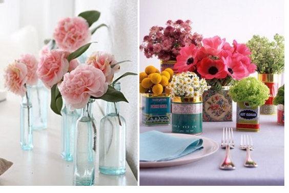 Flores Decorativas Sinteticas Jarron De Suelo