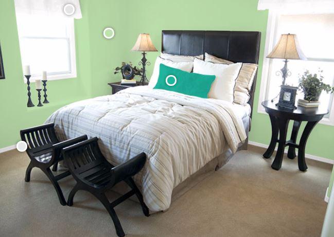 Muebles en negro color de las paredes blogdecoraciones for Muebles oliva