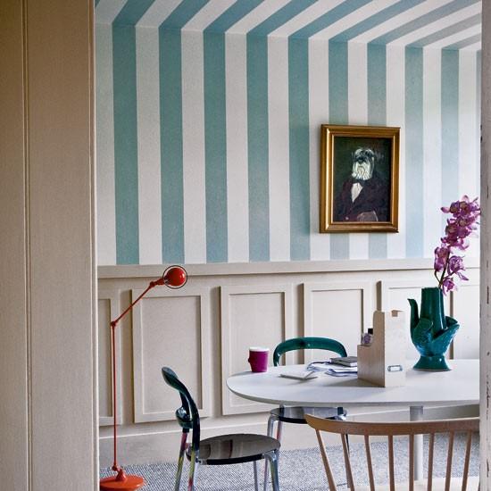 Papel pintado a rayas blogdecoraciones - Papeles vinilicos para cocinas ...