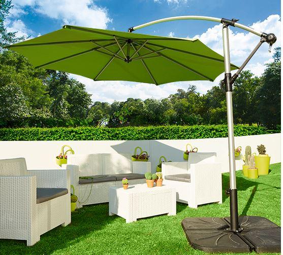 Parasoles y sombrillas de brazo o exc ntricos for Sombrillas para jardin