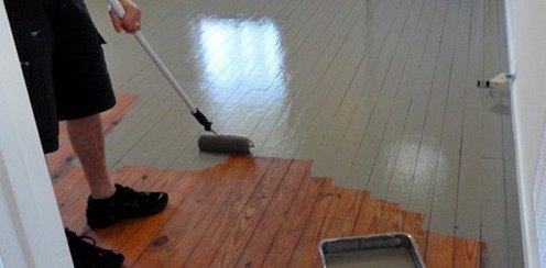 Cómo pintar suelos de madera