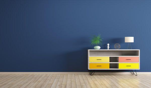 Azul oscuro y color arena