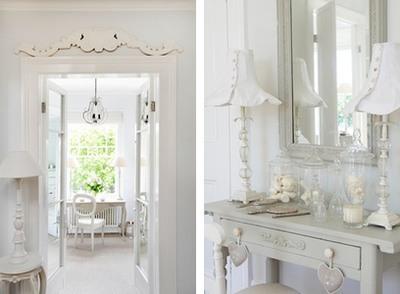 decoración en blanco