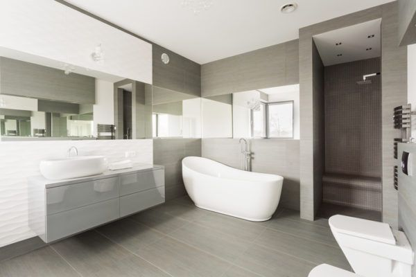 Banos elegante sencillos espejos