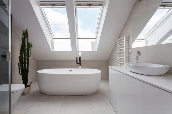 Banos elegante sencillos ventanas