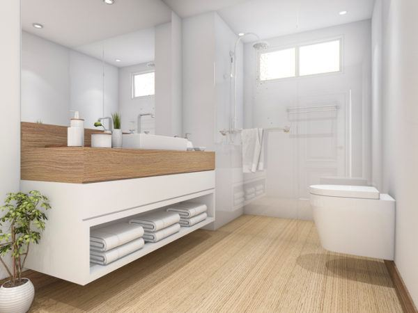 Ba os elegantes y sencillos 2017 blogdecoraciones for Imagenes de banos pequenos sencillos