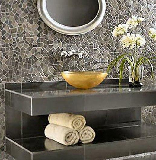 Azulejos Baño Tipo Mosaico:Baños con mosaicos o gresite – BlogDecoraciones