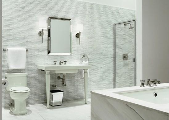 decoración en blanco baños