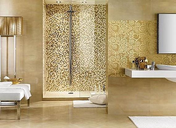 ba os modernos decorados con mosaicos
