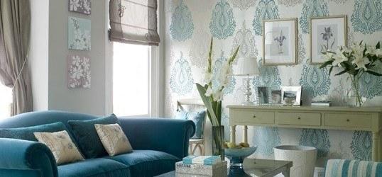 Decorar el salón en azul