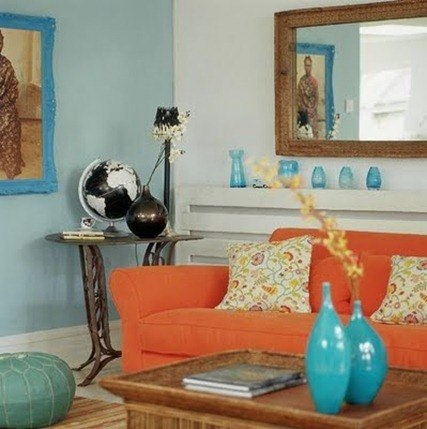 blue-orange decor