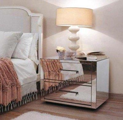 Muebles de espejo para decorar con estilo blogdecoraciones - Mesita noche pequena ...
