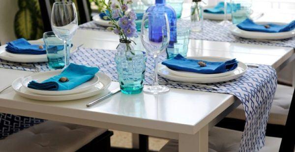 caminos de mesa color azul - Caminos De Mesa