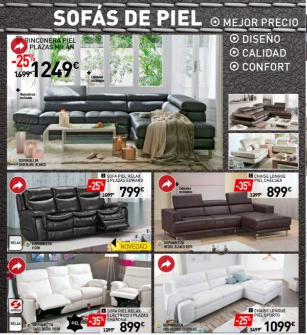 Cat logo conforama 2018 blogdecoraciones for Catalogo de sofas de piel