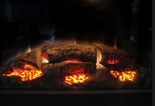 Chimeneas el ctricas modernas blogdecoraciones - Fuego falso para chimenea ...