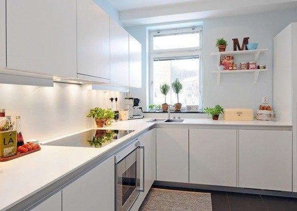 Foto de cocinas blancas