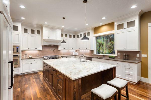 Cocinas americanas con isla isla marmol