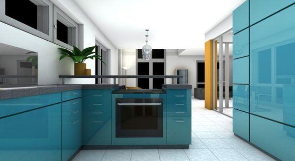 Los mejores dise os de cocinas azules 2018 blogdecoraciones - Cocinas azul tierra ...
