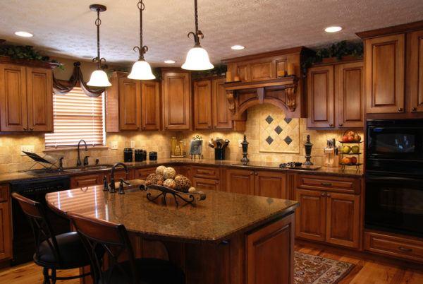 Cocinas rusticas de madera alfombra