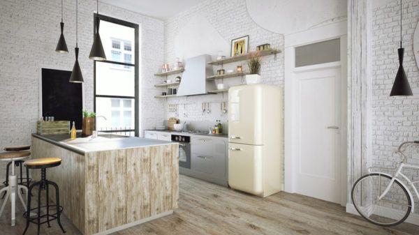 Cocinas rusticas de madera bici