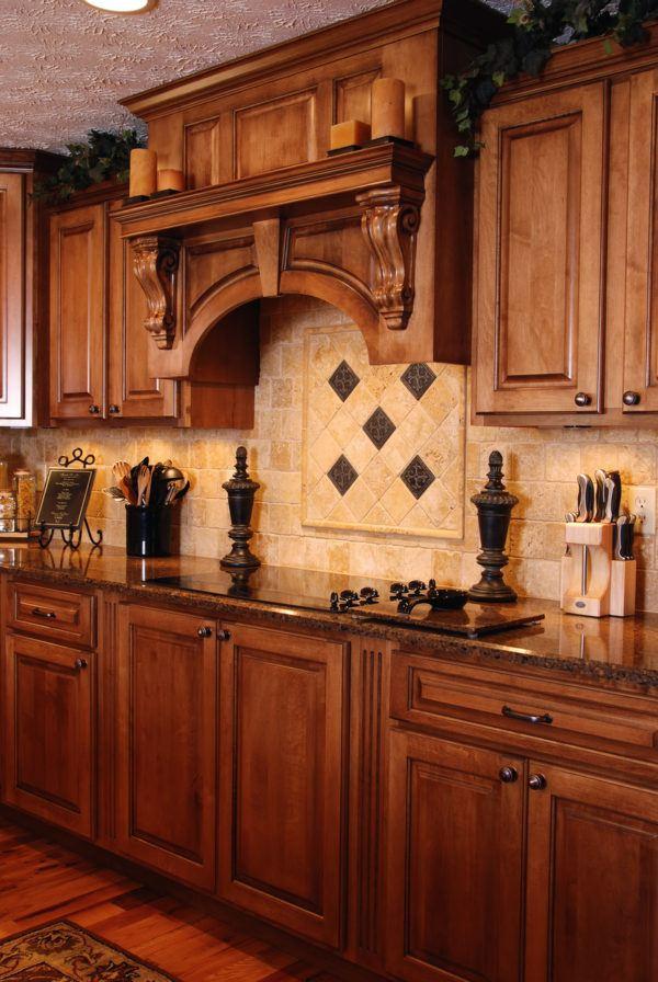 Cocinas rusticas de madera campana extractora