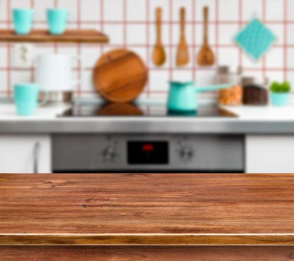 Cocinas rusticas de madera con mint