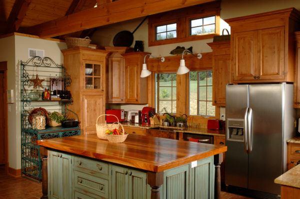 Cocinas rusticas de madera muebles avejentados