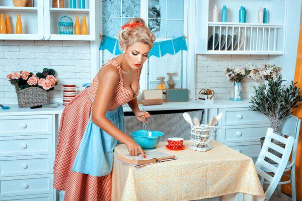 Cocinas vintage azul cielo