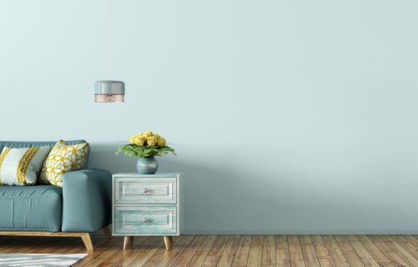 El color verde agua para decorar las paredes