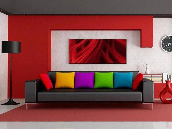 colores-de-salones-modernos-rojo-cojines-colores