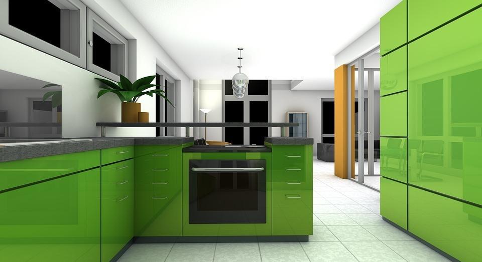 Los mejores colores que combinan con verde para decorar for De que color con gris en una cocina