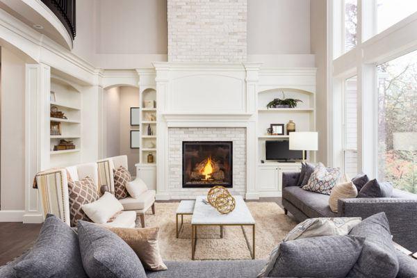 Como decorar con estilo farmhouse chimenea