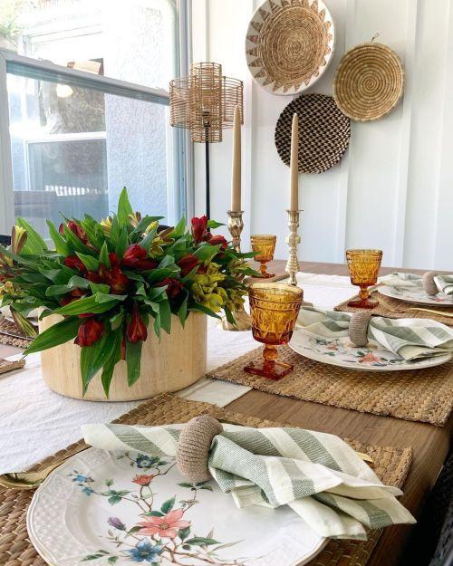 Mesa de Acción de Gracias rústica