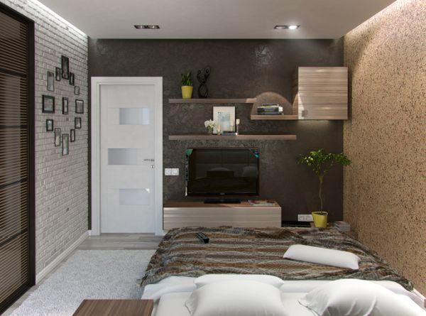 Estante con soportes ocultos para dormitorio